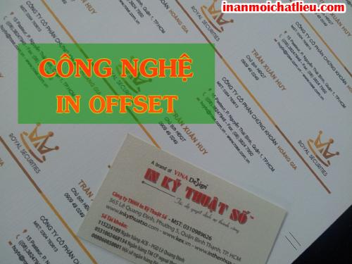 Công nghệ in offset cho in name card, danh thiếp, card visit tại Công ty TNHH In Kỹ Thuật Số - Digital Printing