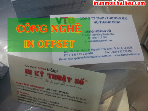 In name card phủ UV cao cấp với in offset số lượng lớn tại Công ty TNHH In Kỹ Thuật Số - Digital Printing