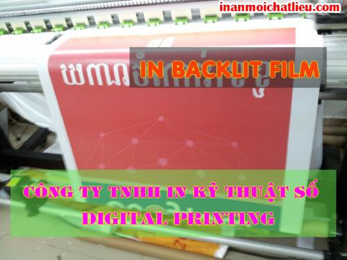 In backlit film quảng cáo tại Công ty TNHH In Kỹ Thuật Số - Digital Printing
