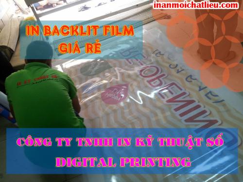 In backlit giá rẻ sử dụng ngoài trời với mực dầu được thực hiện tại Công ty TNHH In Kỹ Thuật Số - Digital Printing