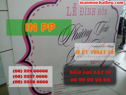 In bảng Lễ đính hôn giá rẻ tại Công ty TNHH In Kỹ Thuật Số - Digital Printing