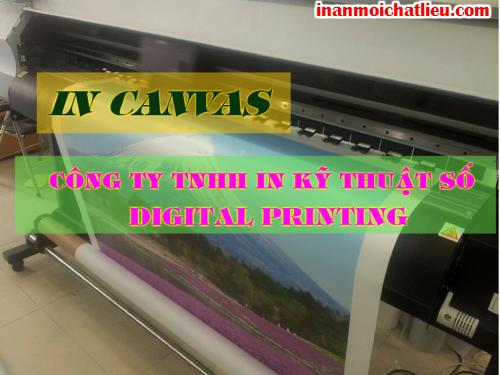 Dịch vụ in vải canvas giá rẻ tại Công ty TNHH In Kỹ Thuật Số - Digital Printing
