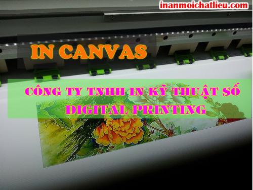 In canvas HCM trên máy in Mimaki tại Công ty TNHH In Kỹ Thuật Số - Digital Printing