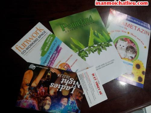 In name card, folder, catalogue, tờ rơi, brochure với kỹ thuật in offset tại Công ty TNHH In Kỹ Thuật Số - Digital Printing