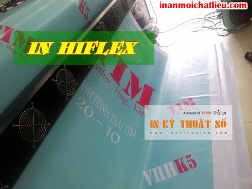In phông nền quảng cáo với bạt hiflex tại Công ty TNHH In Kỹ Thuật Số - Digital Printing