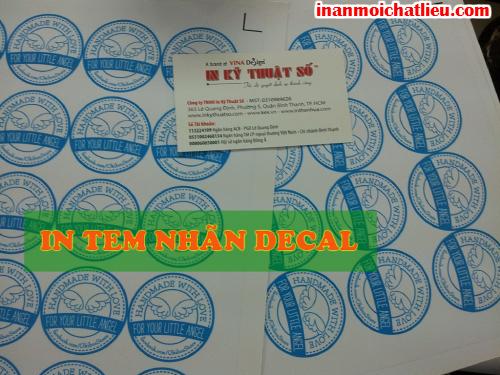 In tem nhãn, tem các loại với decal tại Công ty TNHH In Kỹ Thuật Số - Digital Printing
