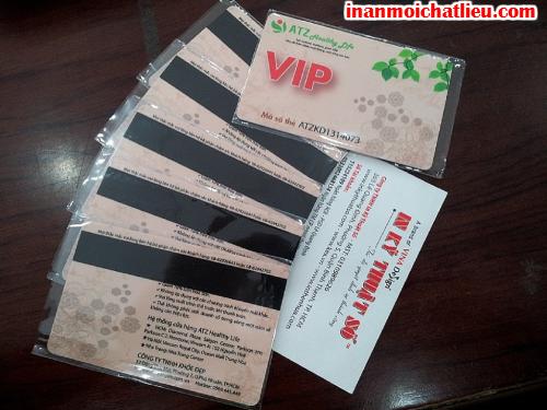 In thẻ nhựa, name card nhựa trong suốt, menu nhựa tại Công ty TNHH In Kỹ Thuật Số - Digital Printing