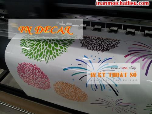 In trang trí kính, tường với decal trong từ dịch vụ in ấn của Công ty TNHH In Kỹ Thuật Số - Digital Printing