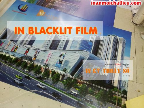 In trang trí kính với blacklit film tại Công ty TNHH In Kỹ Thuật Số - Digital Printing
