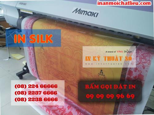In tranh nghệ thuật khổ lớn chất liệu silk tại Công ty TNHH In Kỹ Thuật Số - Digital Printing