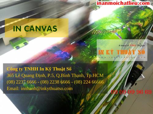 In tranh treo tường canvas tại Công ty TNHH In Kỹ Thuật Số - Digital Printing