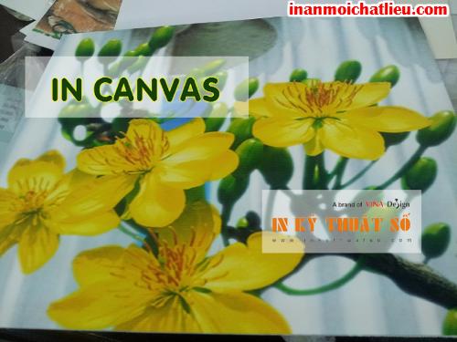 In tranh treo tường với chất liệu canvas, silk được thực hiện bởi Công ty TNHH In Kỹ Thuật Số - Digital Printing